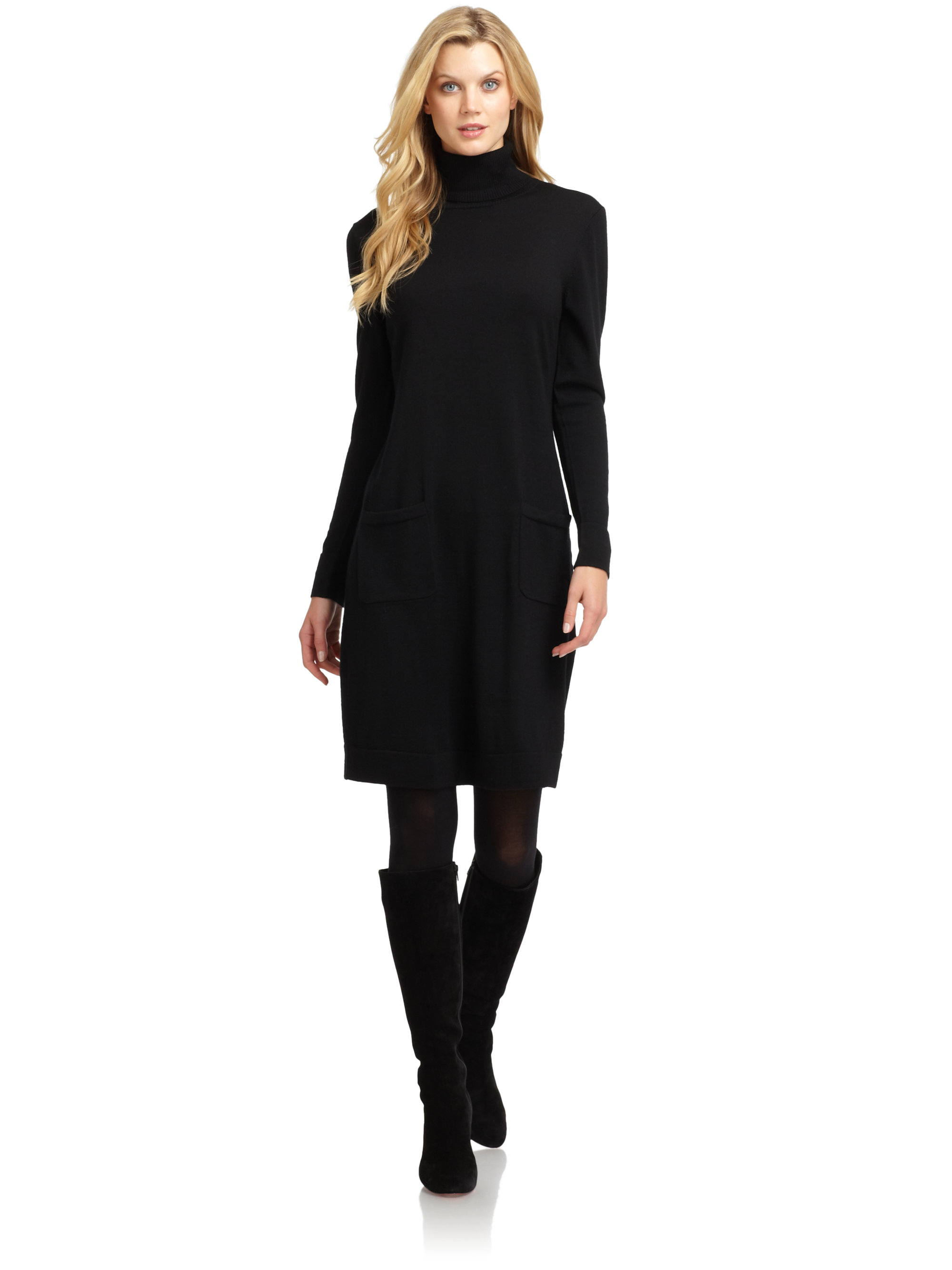 Lafayette 148 new york Merino Wool Turtleneck Sweater Dress in ...