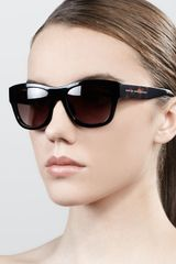 Marc By Marc Jacobs Widetemple Square Plastic Sunglasses - Lyst