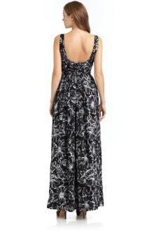Cheap Maxi Dress on Moschino Cheap   Chic Embroidered Ruched Bodice Maxi Dress   Lyst