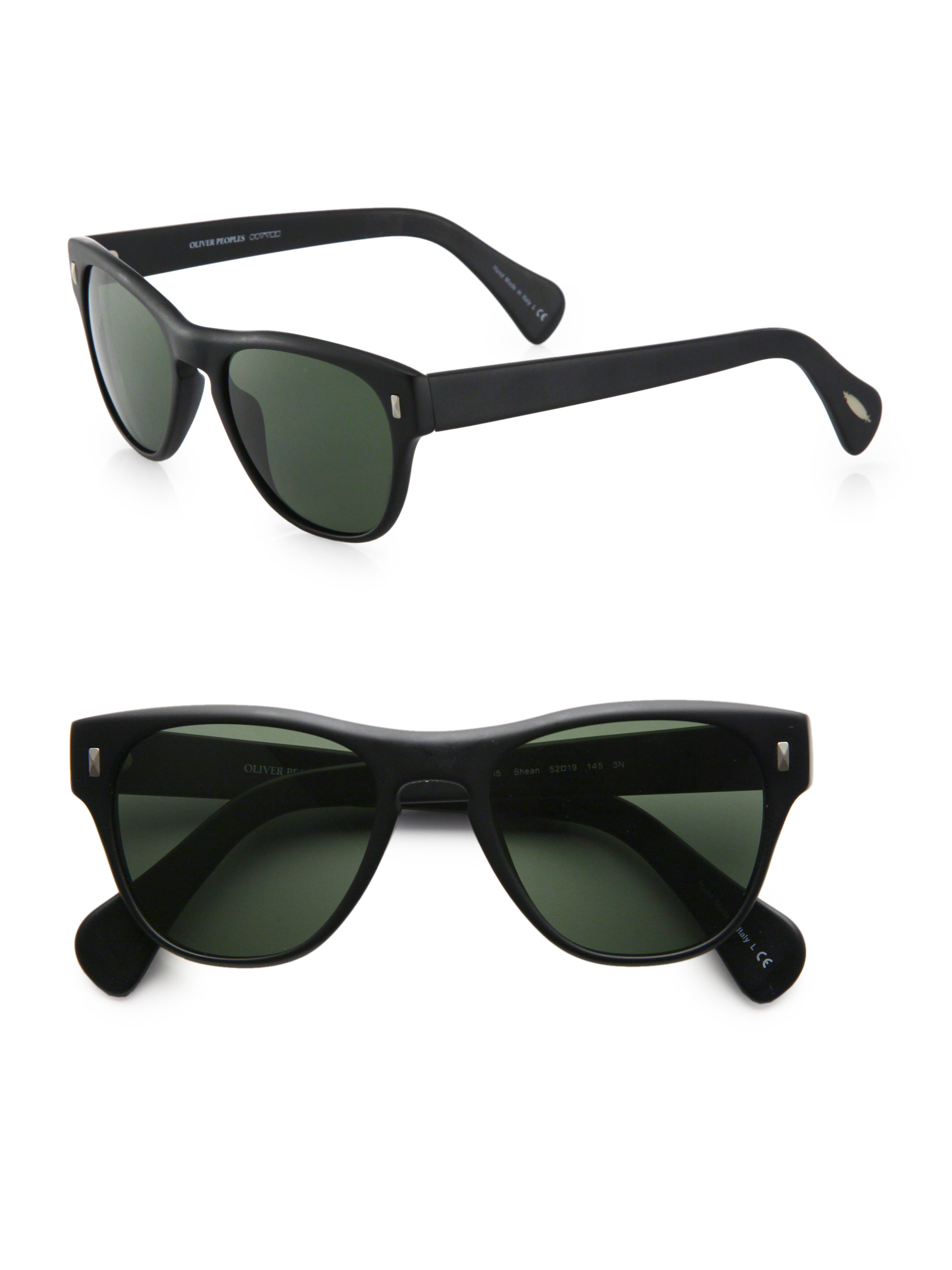 660315e401 Lyst - Oliver Peoples Shean Acetate Sunglasses in Black for Men