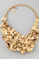 Oscar de la Renta Large Flower Collar Necklace - Lyst