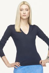 Ralph Lauren Black Label Vneck Cashmere Sweater - Lyst