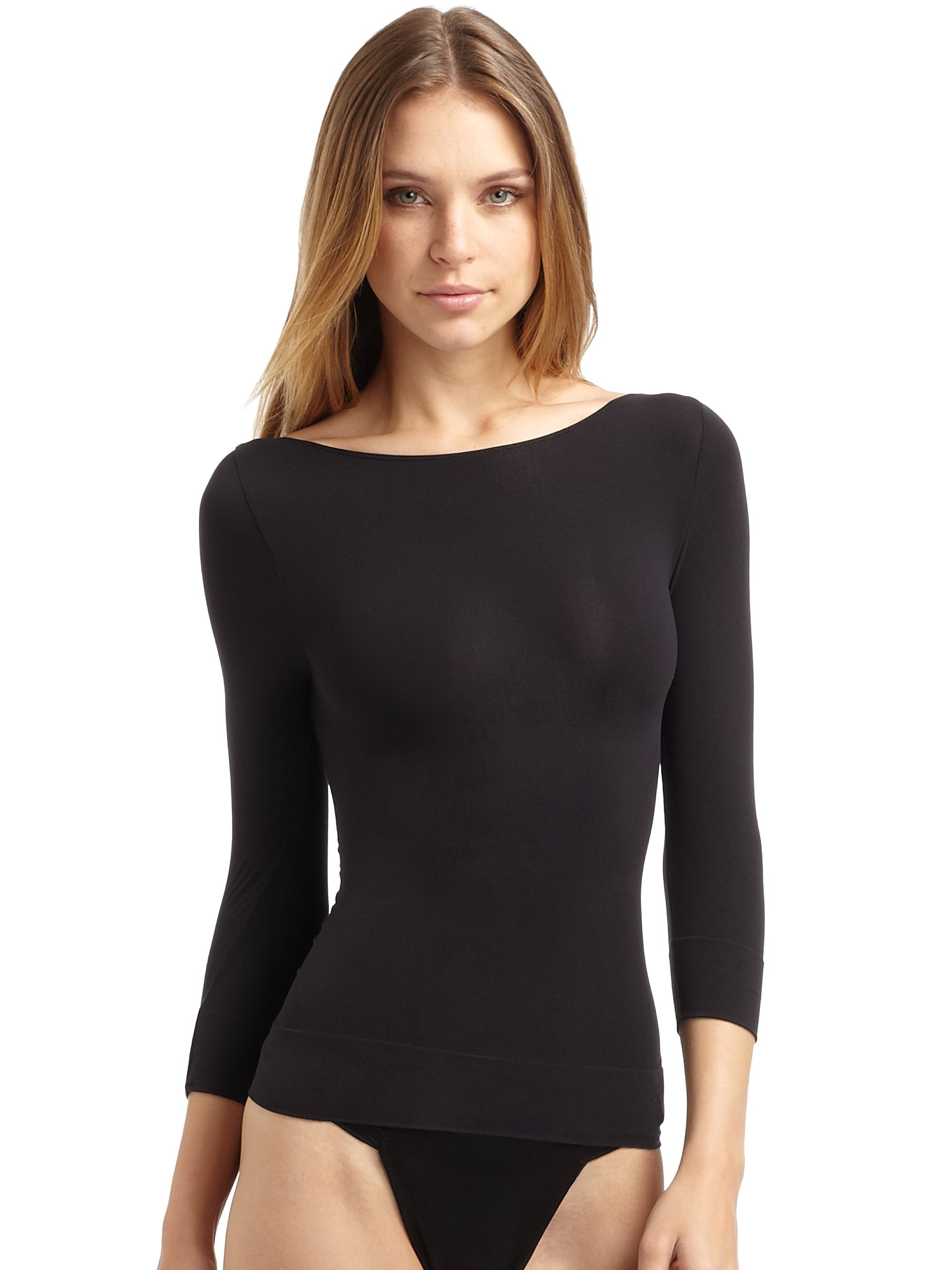 Lyst Spanx On Top In Control Sophisticated Longsleeve