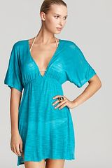 Vitamin A Paradise Plunge Tunic Swimsuit Cover-Up - Lyst