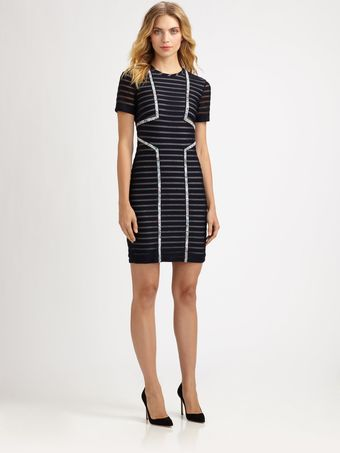 Yigal Azrouel Techno Stripe Dress - Lyst