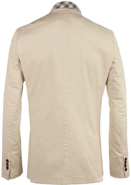 Burberry Formal Jacket In Beige For Men Lyst