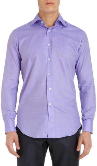 Etro Solid Dress Shirt - Lyst