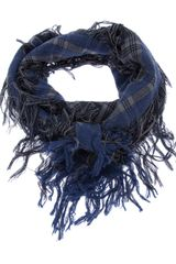Fendi Checked Logo Fringed Scarf - Lyst