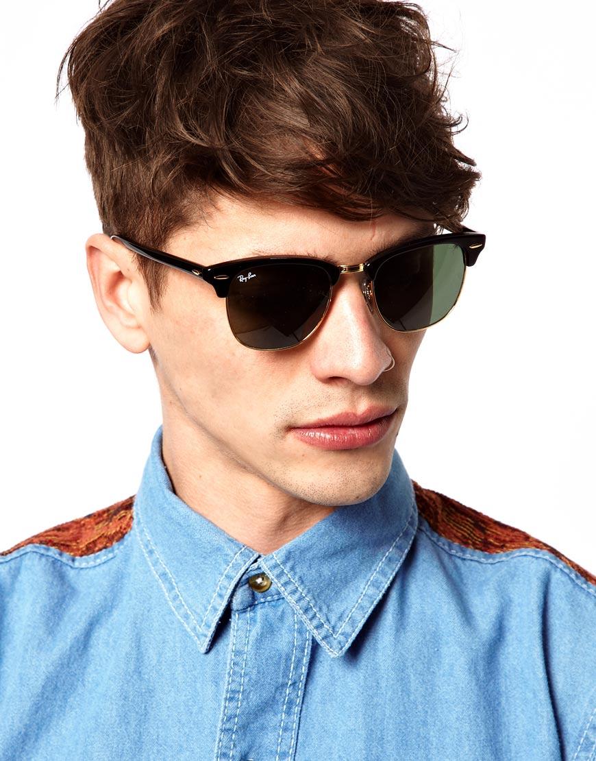 cf3b16f895 ... cheap lyst ray ban clubmaster sunglasses in black for men 24f1e a6db9  ...