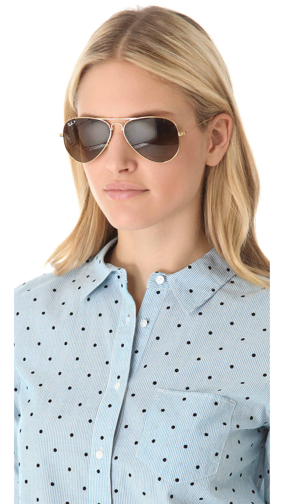 ray ban aviators polarized women's