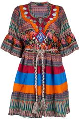 Jo No Fui Printed Bead Boho Dress - Lyst