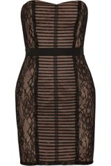 BCBGMAXAZRIA Lace Dress - Lyst