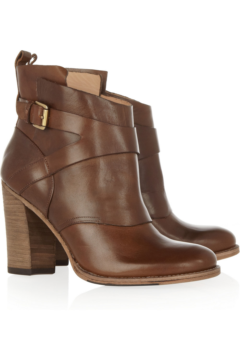 Belle by sigerson morrison Leather Ankle Boots in Brown | Lyst