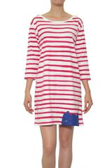 Cats By Tsumori Chisato Striped Cotton Jersey Dress - Lyst