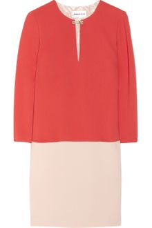 Emilio Pucci Colorblock Stretch Wool-crepe Dress - Lyst