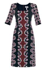 Erdem Sophia Viscontibloom Silk Dress - Lyst