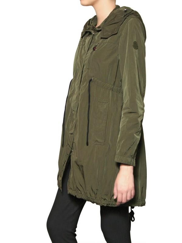 Moncler Josephine Nylon Parka Jacket In Natural Lyst