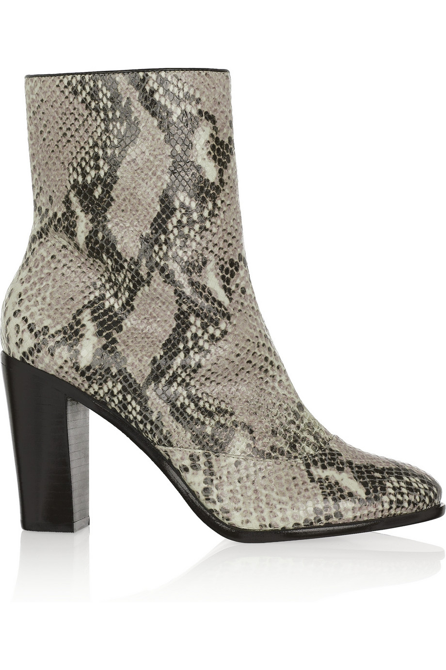 Lyst Pour La Victoire Snakeskin Effect Leather Ankle Boots