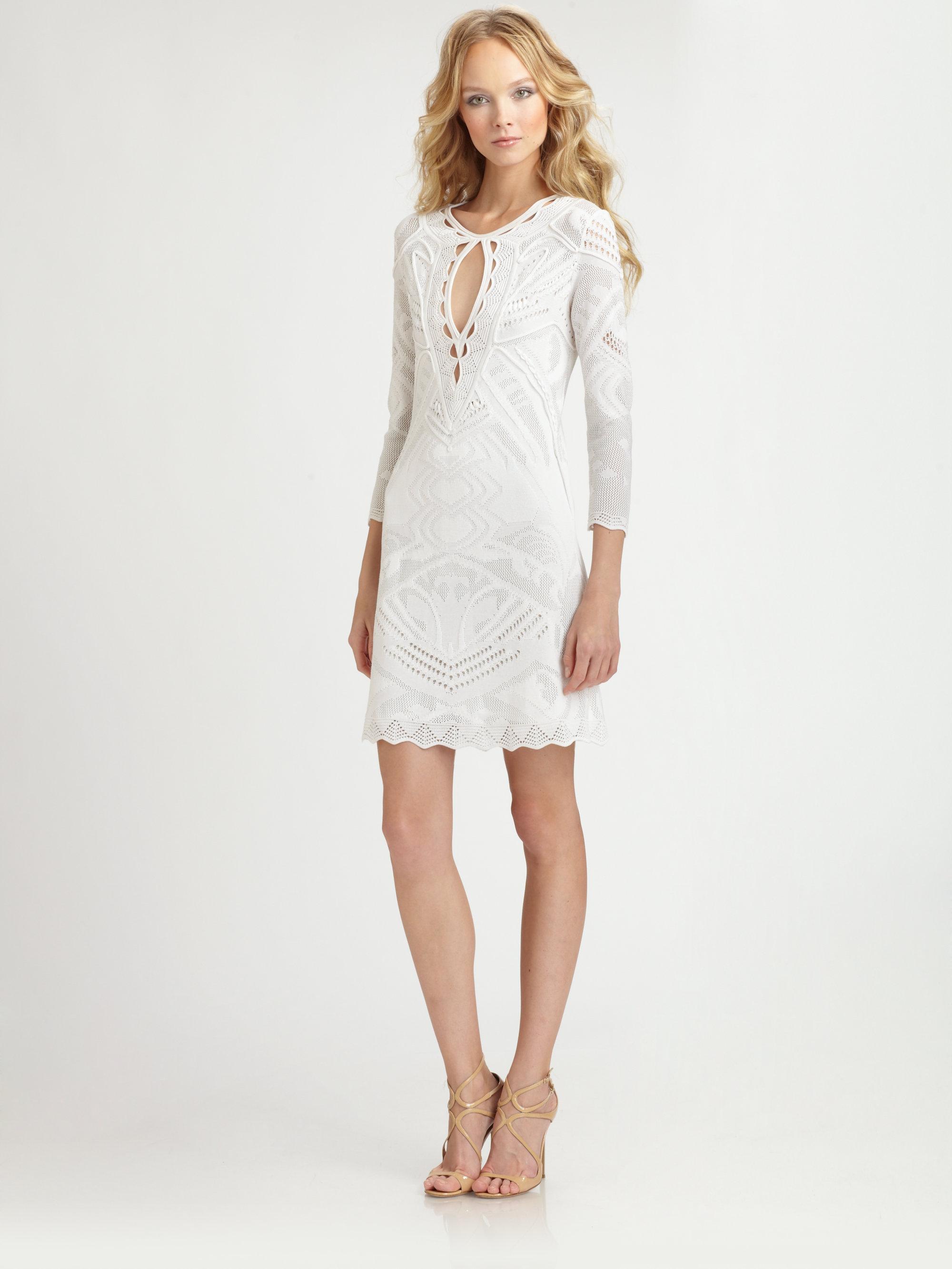 Roberto Cavalli White Dress