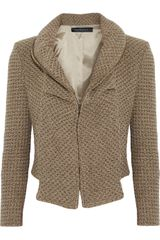 Roland Mouret Cropped Wool-blend Jacket - Lyst