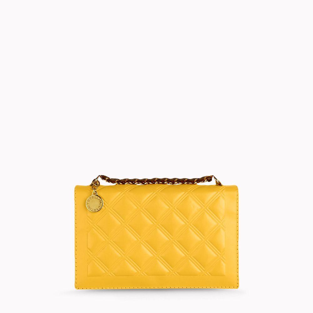 5569ae4cc5 Lyst - Stella McCartney Clutch Bag in Yellow