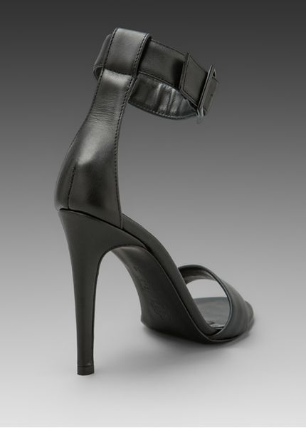 Tibi Ankle Strap Heels In Black Lyst