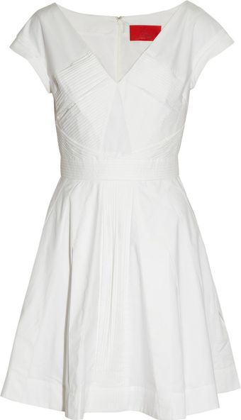 Z Spoke by Zac Posen Cotton and Silkblend Twill Dress - Lyst