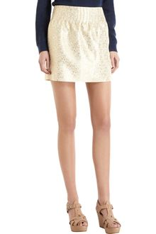 A.P.C. Metallic Mini Skirt - Lyst
