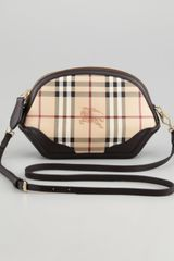 Burberry Extra Small Check Crossbody Bag - Lyst