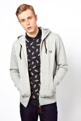 Fred Perry Sweat Hooded Zip - Lyst