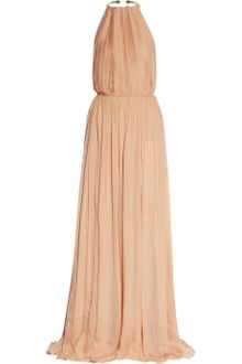 Just Cavalli Pleated Silkchiffon Gown - Lyst