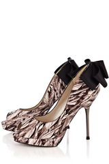 Karen Millen Feather Print Shoe - Lyst