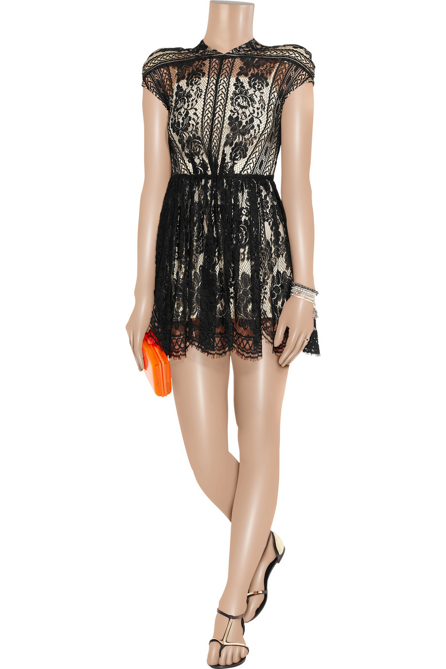 Lyst Lover Wiccan Lace Mini Dress In Black