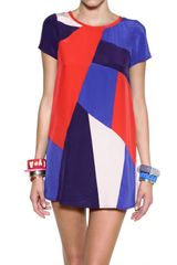 Marc By Marc Jacobs Printed Silk Crepe De Chine Short Dress