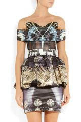 Mary Katrantzou Nebraska Printed Silkblend Satin Dress in Multicolor (multicolored) - Lyst