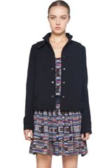 Proenza Schouler Cropped Jacket in Black - Lyst