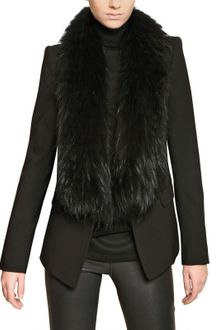 Roberto Cavalli Raccoon Fur Cool Wool Jacket - Lyst