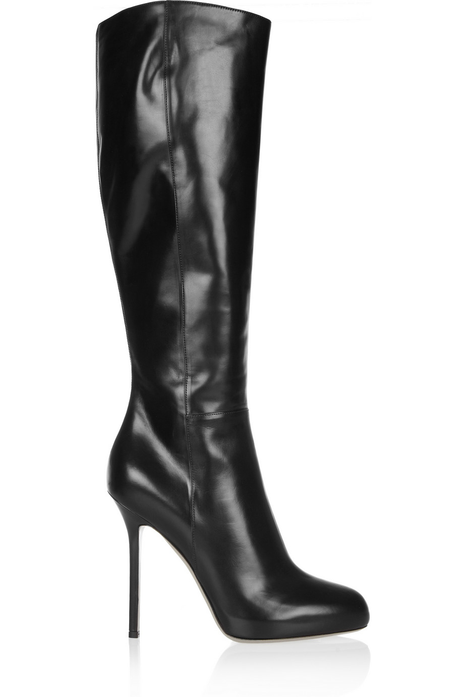 Sergio rossi Black Leather Boots in Black | Lyst