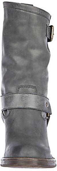 Steve Madden Hocus In Gray Black Leather Lyst