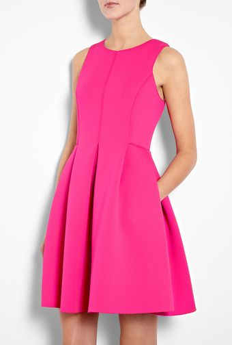 Tibi Sleeveless Neoprene Scuba Dress - Lyst