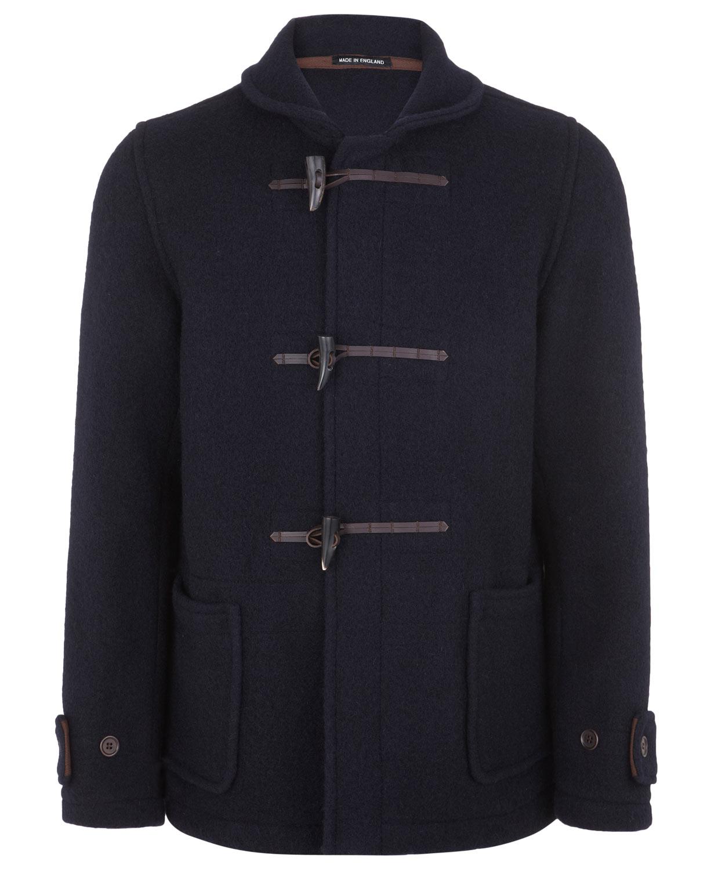 Ymc Navy Gloverall Wool Duffle Coat in Blue for Men | Lyst