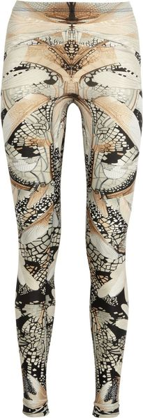 Alexander McQueen Wing Print Stretch Leggings - Lyst
