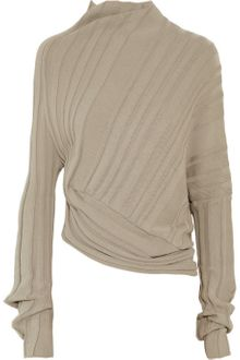 Alexander Wang Asymmetric Ribbed Cotton Sweater - Lyst