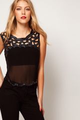 ASOS Collection Vest with Cutwork and Embellishment - Lyst