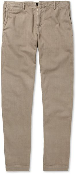 Billy Reid Jack Selvedge Cotton-twill Trousers - Lyst
