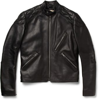 Burberry Brit Leather Biker Jacket - Lyst