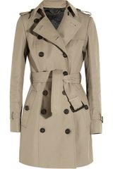 Burberry Prorsum Midlength Gabardine Trench Coat - Lyst