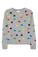Chinti And Parker Heart Intarsia Cashmere Sweater - Lyst