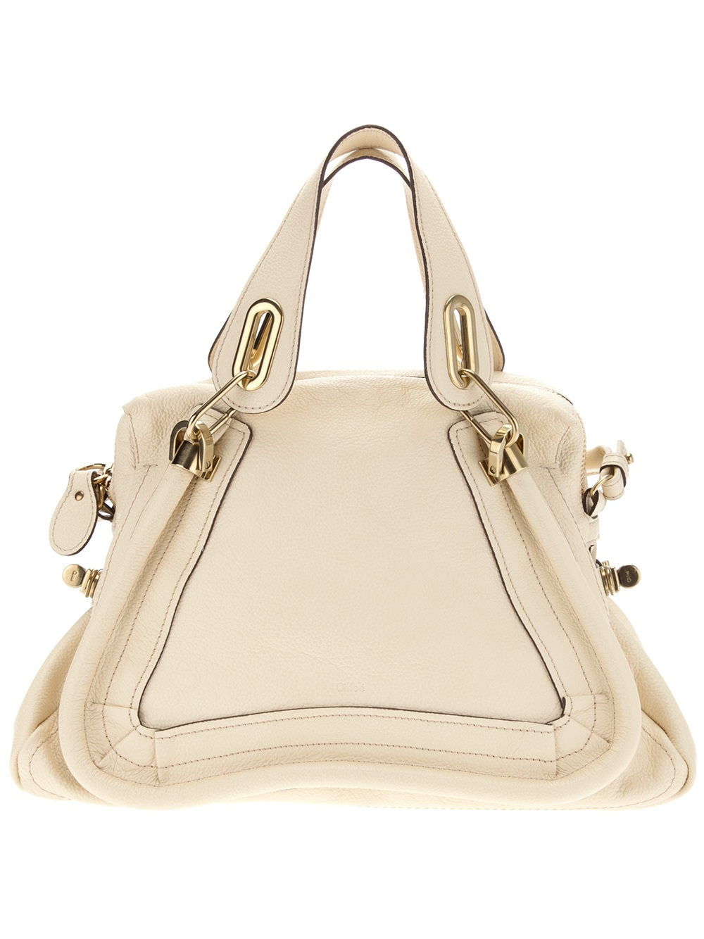 Chlo¨¦ Paraty Calf Leather Shoulder Bag in Beige (cream) | Lyst