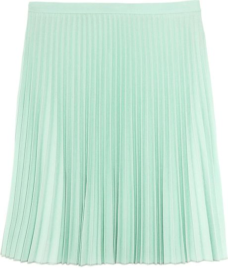Christopher Kane Pleated Mini Skirt in Green (mint) - Lyst